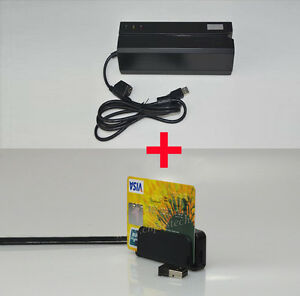 MSRE206 HiCo Magnetic Card Reader/Writer +  Wireless Bluetooth MINI400B