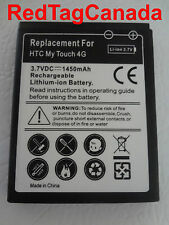 HTC MyTouch 4G Rechargeable Lithium-ion Replacement Li-ion Battery 1450 mAh - CA