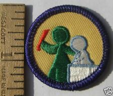 Girl Scout 1980-2001 Junior ART IN THE ROUND BADGE Sculpting Sculpture Patch