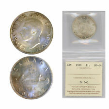 Canada Silver Dollar 1938, Graded by ICCS