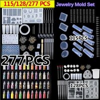 DIY Epoxy Resin Jewelry Molds Kit for UV Pendant Craft Silicone Mould Tools Set