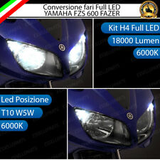 CONVERSIONE LED YAMAHA FZS 600 FAZER 2001-2004 KIT LED H4 + LED POSIZIONE T10