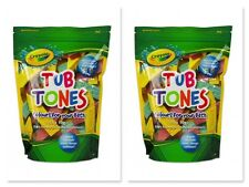 2 x Crayola TUB TONES 15 x 10g BATH FIZZERS in DIFFERENT COLOURS MIX COLOURS