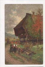 Schwarzwaelder Bauernhof Gutach W Hasemann Vintage Postcard Germany 395a
