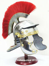COLLECTIBLE MEDIEVAL ANCIENT ROMAN CENTURION ARMOR HELMET WITH STAND