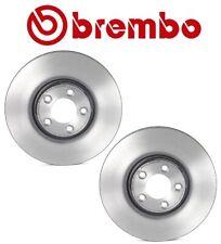 NEW Pair Set of 2 Front Disc Brake Rotors Coated Vented 320mm Brembo For Jaguar