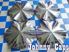 UNKNOWN EQUUS Wheels CHROME Center Cap # EQ12 Custom Wheel Center Caps (Set 4)