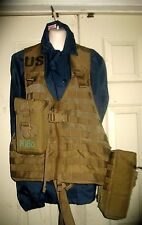 FIGHTING LOAD CARRIER VEST MILITARY MOLLE II COYOTE BROWN EXC With 2  Pouches