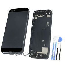 New Metal Replace Black Battery Door Housing Back Cover Case For Apple iPhone 5