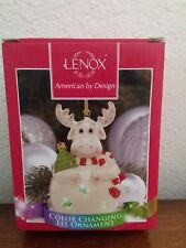 Lenox Color Changing Lit Moose Christmas Ornament New in box