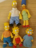 VINTAGE SIMPSONS FAMILY~ SET Of DOLLS PLUSH 1990 MATT GROENING 20th Century Fox