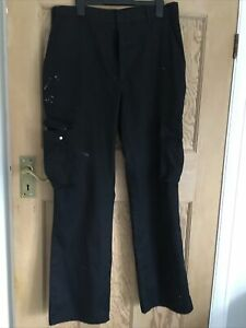 Mens Black Work Trousers Size 32