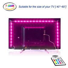 LED TV Backlight Bias Lighting Kits for HDTV USB Multi Color Remote Control 1-4M