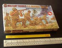 1976 Vintage 1st Issue Airfix US Marines 1941-45 Multipose 1/32 Figures x 6 (556