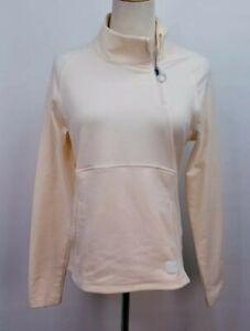 PUMA Zip Mock Activewear Pullover, Womens Sz S, Rosewater Pink, Long Sleeve, NEW