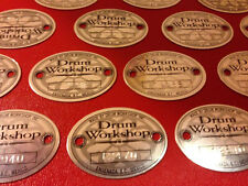 DW DRUM WORKSHOP AUTHENTIC BADGE BLACK, CHROME & SILVER ALL WITH SERIAL NUMBERS