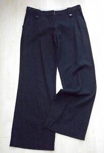 Black Wide Leg Linen Trousers,Size 14,Unworn,New Look,Casual,Slouch