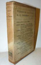 POESIA - Poesie di G. A. Cesareo 1912 Zanichelli Bologna Novecento Versi 1a ed.