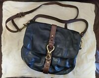 Cole Haan Shoulder and Crossbody Convertible Black Leather Saddle Bag