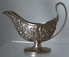 S. Kirk & Son Coin Silver Repousse Sauce Gravy Boat 1846-1868 .900/1000 sterling
