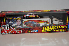 Racing Champions 2001 NASCAR Jerry Nadeau Chase the Race Transporter + Car