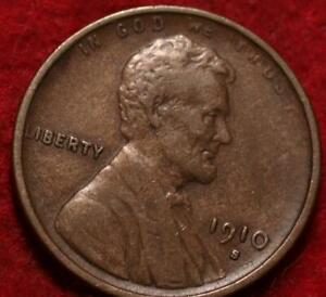 1910-S San Francisco Mint Copper Lincoln Wheat Cent