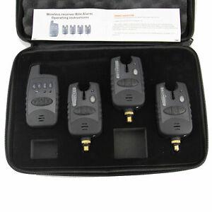Wireless Waterproof LED 3+1 Bite Alarm Set & Receiver Run