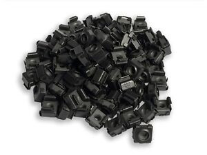RackGold® 10-32 Black Cage Nuts 100 Pack RoHS Compliant & USA Made G1032-SNP-B10