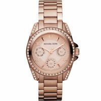 BRAND NEW Michael Kors Mini Blair Rose Gold Glitz Womens Watch MK5613