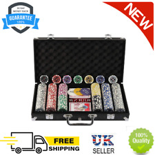 More details for display4top 300 piece texas holdem poker chips set with aluminum case ,2 decks