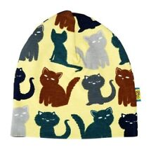 *NEW* Duns Sweden - Yellow cat Organic Cotton Winter Hat - size 9-18 months