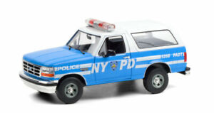 GREENLIGHT #19087 1:18 NEW YORK POLICE DEPT NYPD 1992 FORD BRONCO *PRESALE*