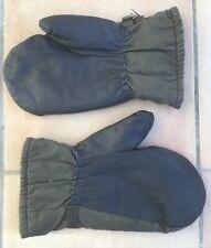 German Military Grey Leather Gloves Leather Gloves Germans Bundeswehr Knobs