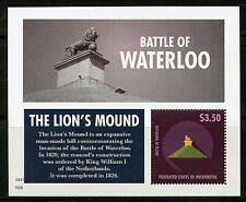 MICRONESIA 2015  BATTLE OF WATERLOO THE LION'S MOUND SOUVENIR SHEET   MINT NH