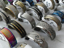 Wholesale Mixed style Lots 60pcs stainless steel Fashion Men's Trendy Rings