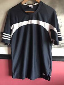 Adidas Tshirt Mens Size Large Black Football Sport Climalite