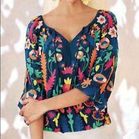 Soft Surroundings Baranja embroidered blouse Medium