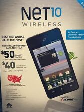 Net 10 wireless Huawei ''Ascend Plus Android'' Prepaid Phone
