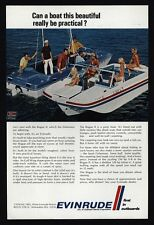 1969 EVINRUDE Rouge II & Sport Fisherman Boat - Men Flirt With Girls  VINTAGE AD