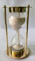 Brass Hourglass Nautical Marine Antique Sandglass Sand Timer Clock