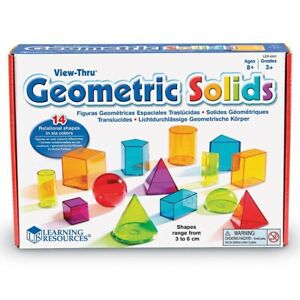 Learning Resources - View Thru Geometric Solids - Early geometry concepts