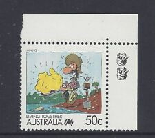 Reprint Stamps Living Together 50c Mining 2K Top Right Corner