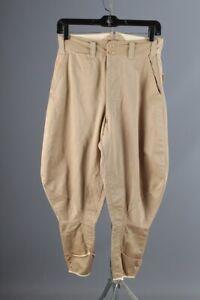 Vtg Men's 1930s 1940s Khaki Jodhpurs 28x26 30s 40s Breeches Equestrian Pants
