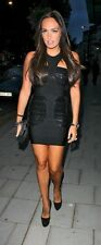 HERVE LEGER Jordan Beaded Sequin Bandage Dress Black Size XS New
