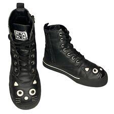 T.U.K Black Kitty Sneaker Combat Boot Size 4 UK