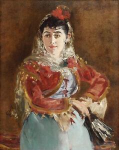 """Edouard Manet - Portrait of Emilie Ambre as Carmen 1880 - 17""""x22"""" Fine Art Print"""