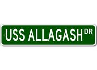 USS ALLAGASH AO 97 Ship Navy Sailor Metal Street Sign - Aluminum