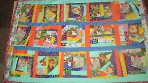 Patchwork Hand Made Single Piece Artwork Quilt for kids!