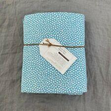 New pottery barn teen Mini Dot sheet set Twin XL  Blue white