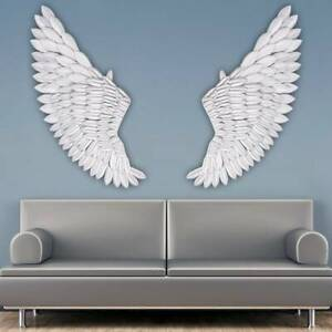 Rustic Angel Wing Wall UK 40'' Large Mount Hanging Art Home Bedroom Living Decor